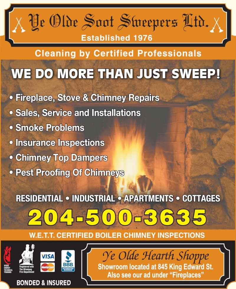 Ye Olde Soot Sweepers Ltd Winnipeg Mb 845 King Edward