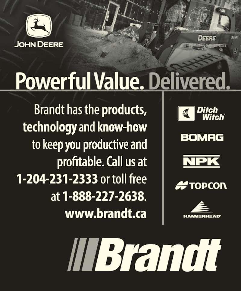Brandt Tractor Ltd (204-231-2333) - Display Ad -