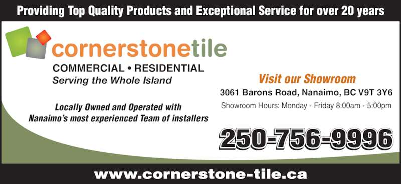 Cornerstone Tile Ltd Opening Hours 3061 Barons Road Nanaimo BC