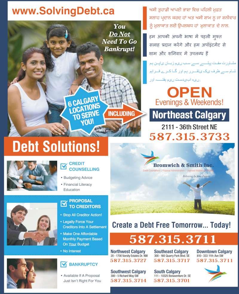 Bromwich & Smith Inc (403-266-6665) - Display Ad -