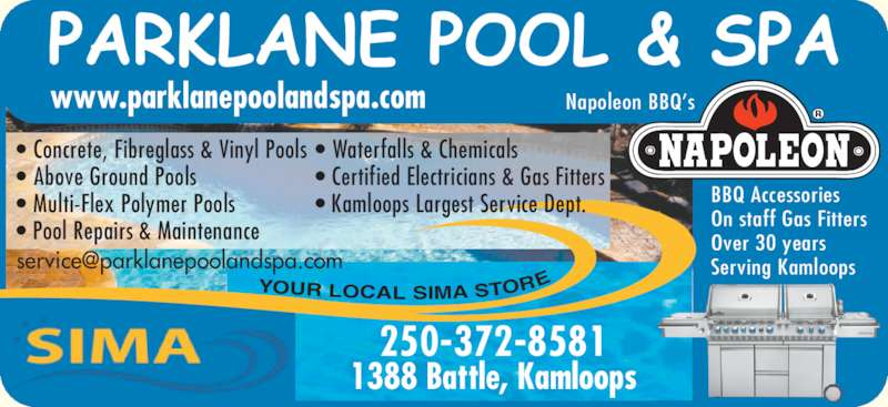 Parklane Pool Amp Spa Opening Hours 1388 Battle St