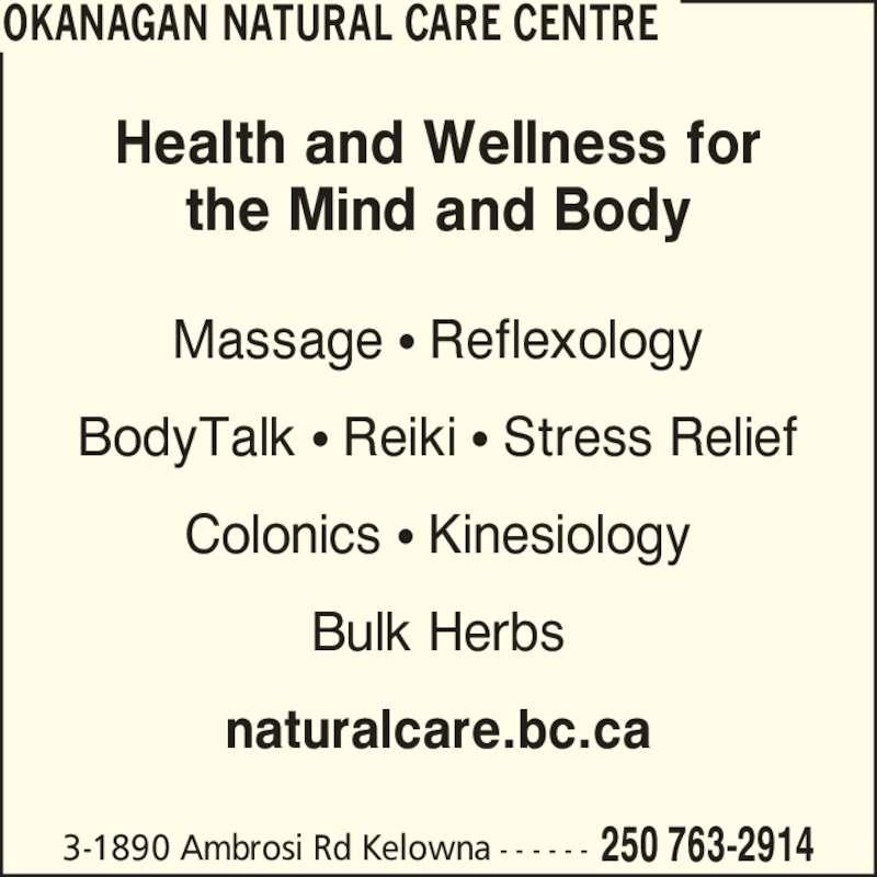 Okanagan Natural Care Centre
