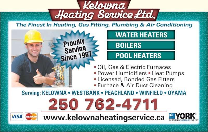 Kelowna Heating Service Ltd Opening Hours