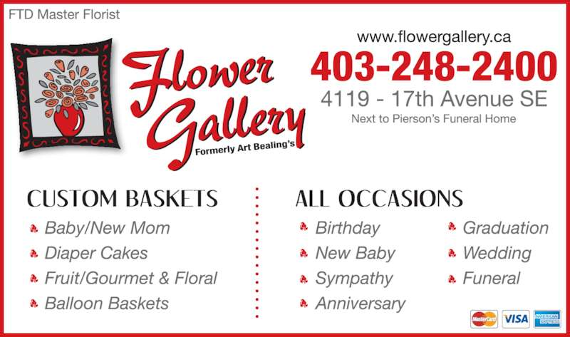 Flower Gallery (403-248-2400) - Display Ad - 403-248-2400
