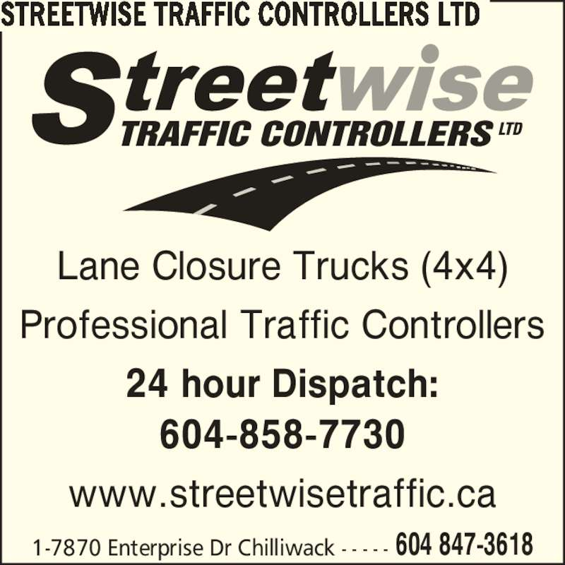 Streetwise traffic controllers ltd chilliwack bc 1 for 24 hour tanning salon near me