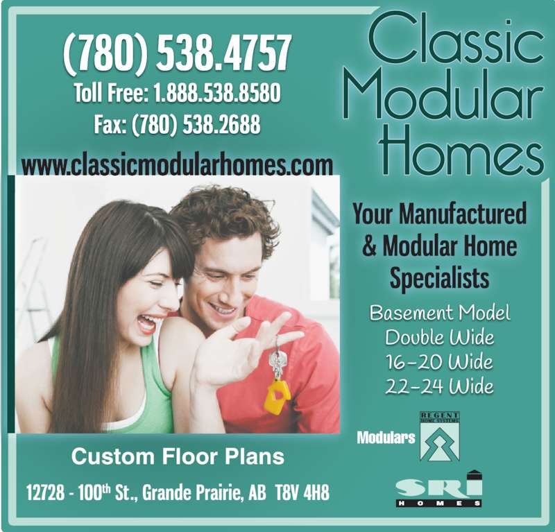 Classic Modular Homes (780-538-4757) - Display Ad - Custom Floor Plans Modulars