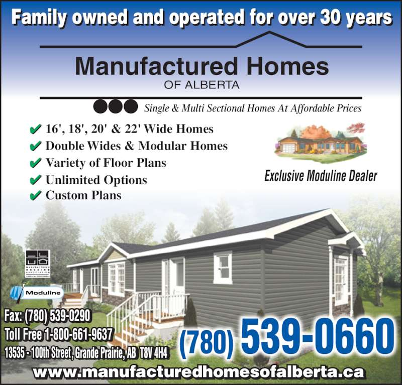 Manufactured Homes Of Alberta Opening Hours 13535