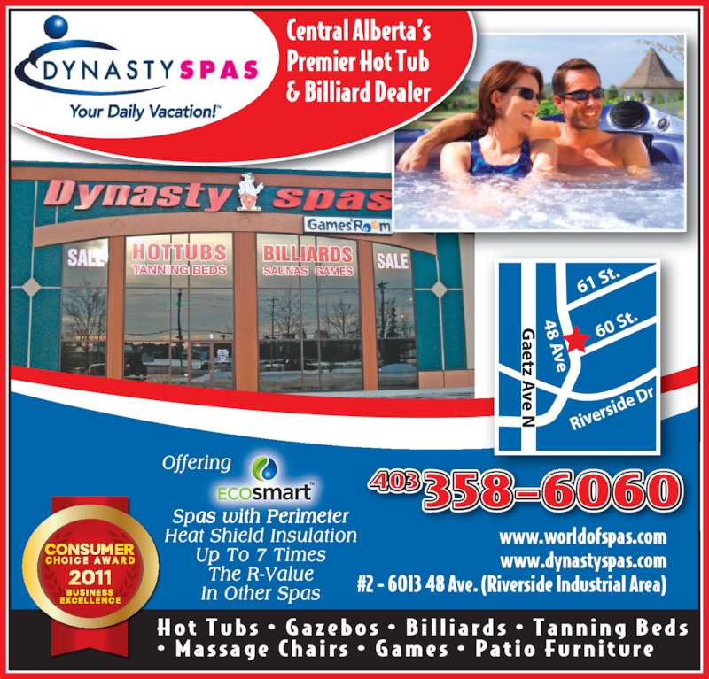Dynasty Spas Opening Hours 2 6013 48 Ave Red Deer Ab