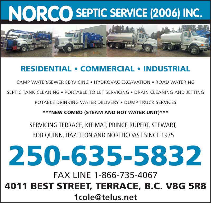 Norco Septic Service Ltd Opening Hours 5135 Keith Ave