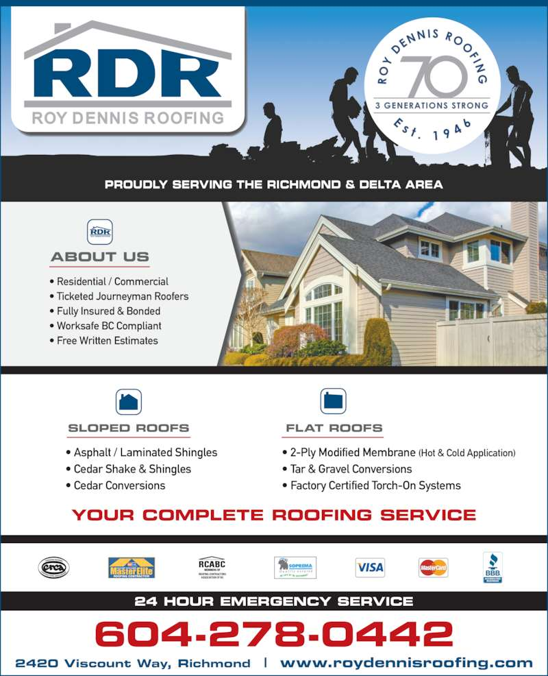 Roofing contractor members of roofing contractors association of bc
