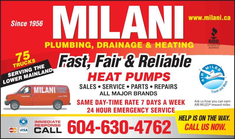 Milani Plumbing Drainage Amp Heating Burnaby Bc 5526