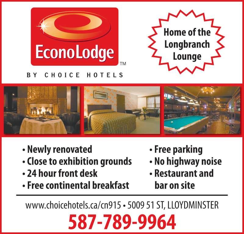 Econo Lodge (780-875-6101) - Display Ad -