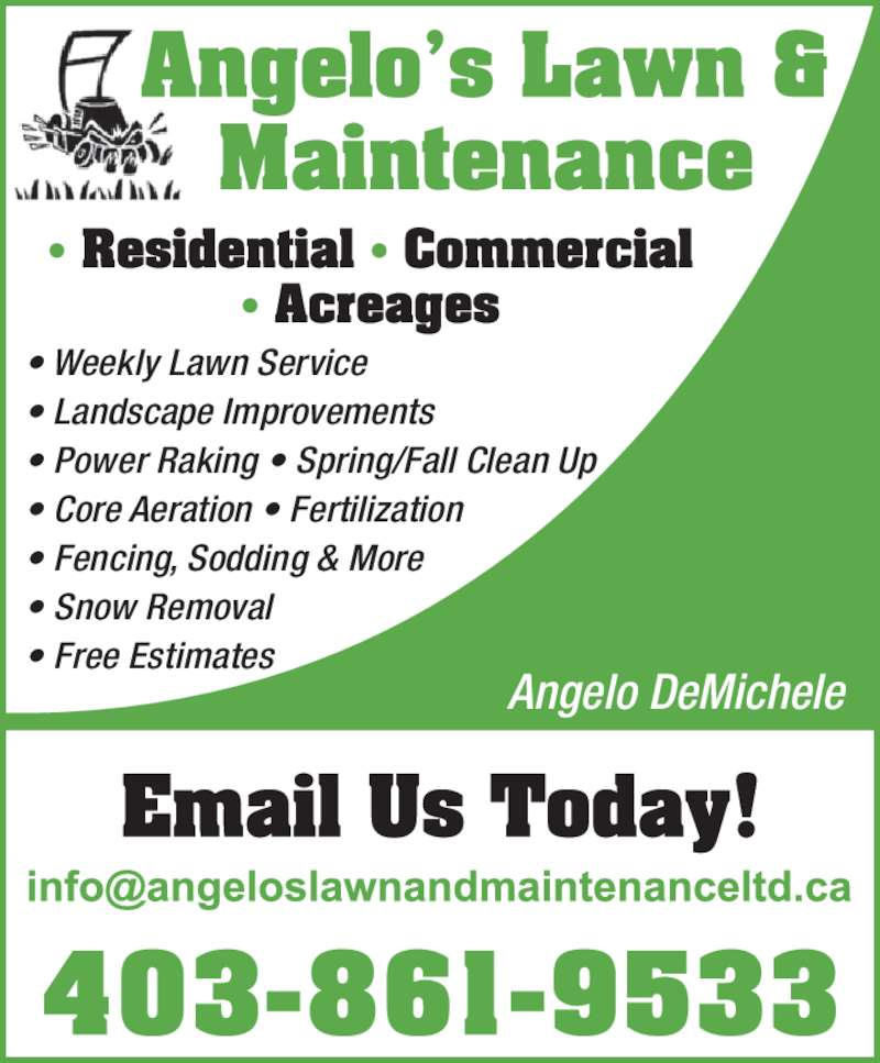 Lawn Service And Landscape: Angelo's Lawn & Maintenance Ltd
