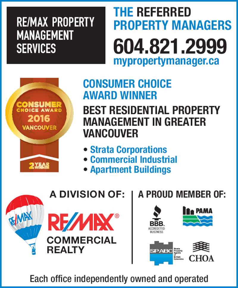 Property Management Services : Re max commercial realty richmond bc viking