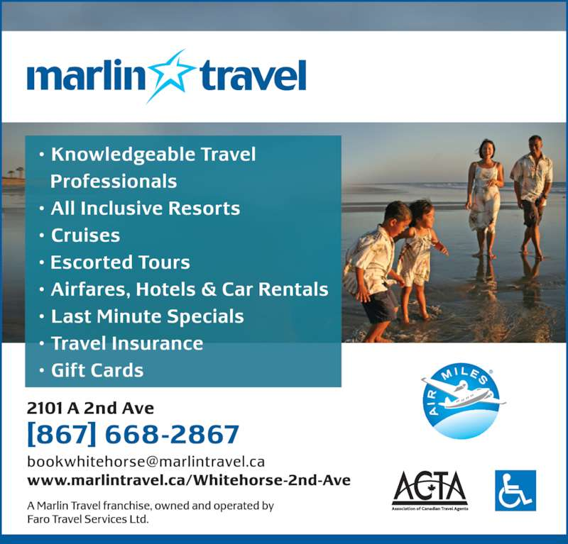 Marlin Travel (867-668-2867) - Display Ad -