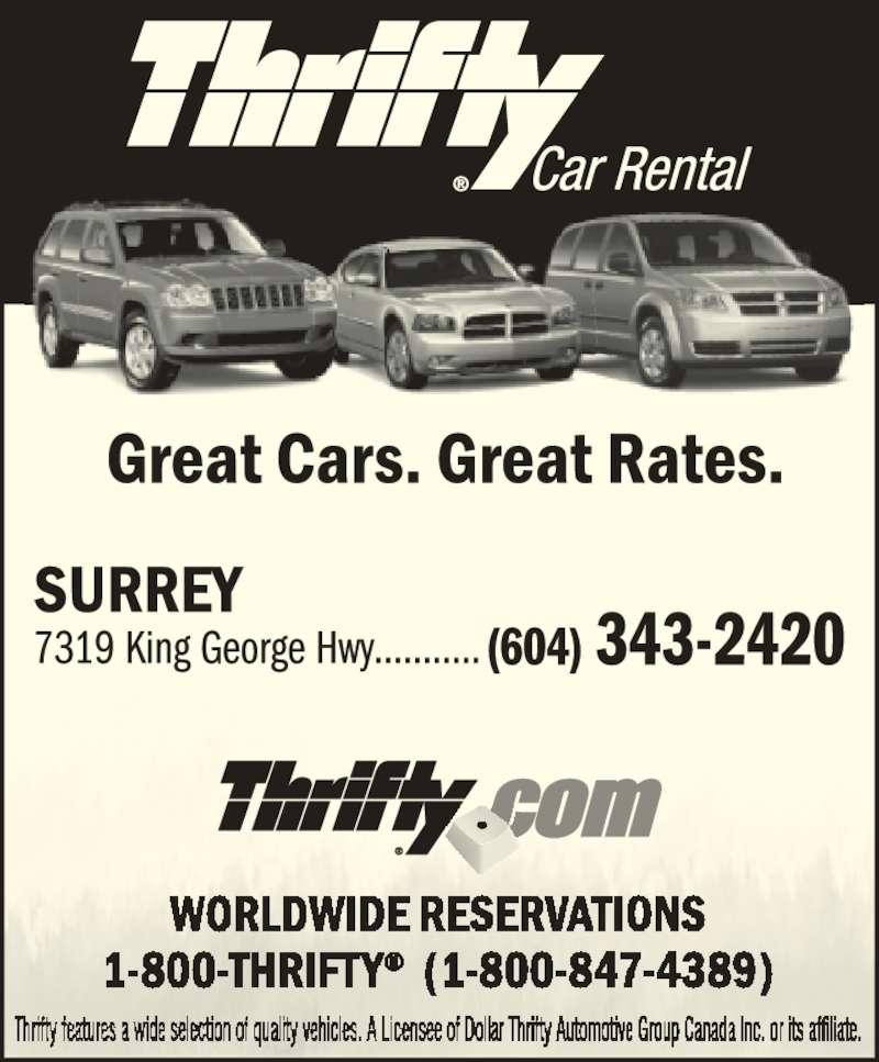 Car Rental Surrey Bc King George