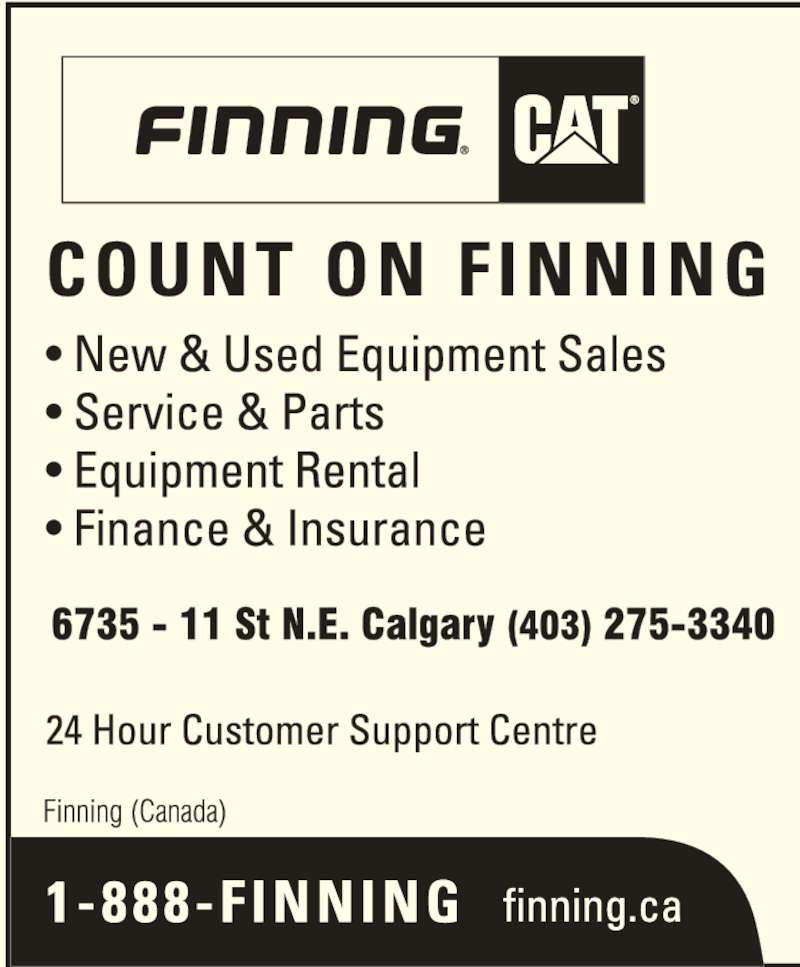 Finning (Canada) (403-275-3340) - Display Ad -