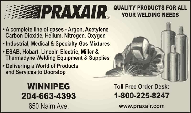 Praxair (204-663-4393) - Display Ad -