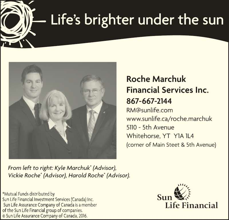 Roche Marchuk Financial Services Inc (867-667-2144) - Display Ad -