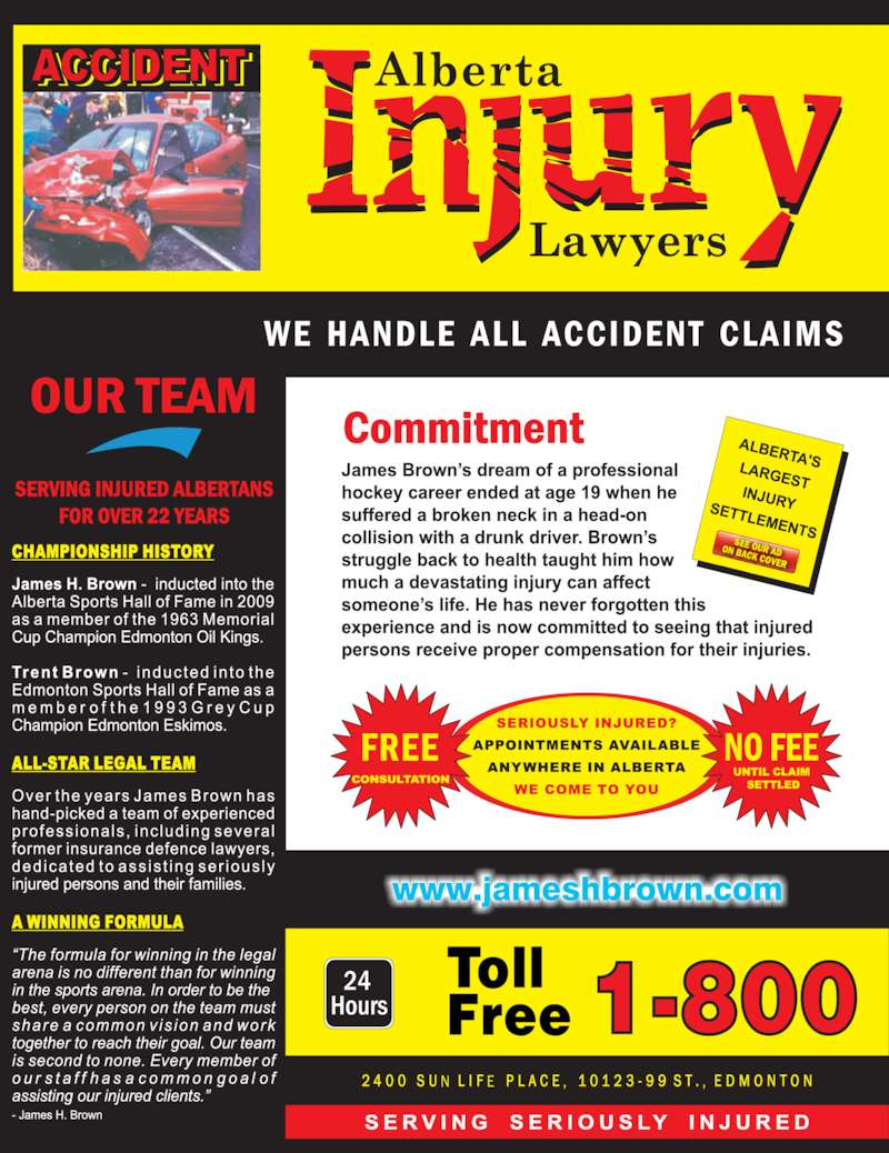 Alberta Injury Lawyers (1-800-616-0088) - Display Ad -
