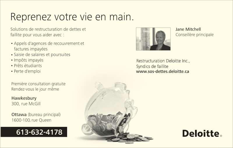 Deloitte (613-632-4178) - Annonce illustrée======= -