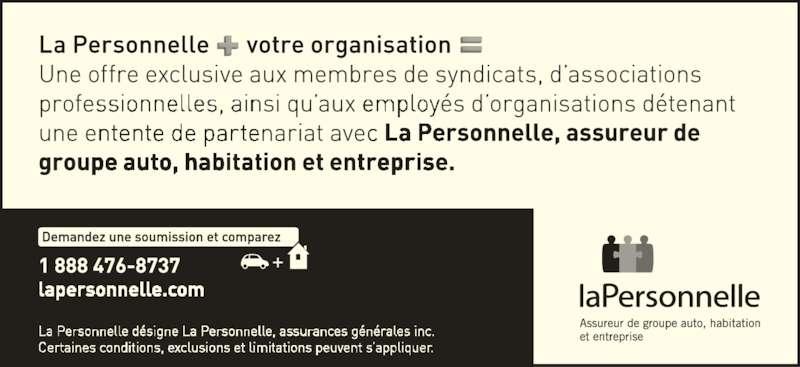 La Personnelle (1-888-476-8737) - Annonce illustrée======= -