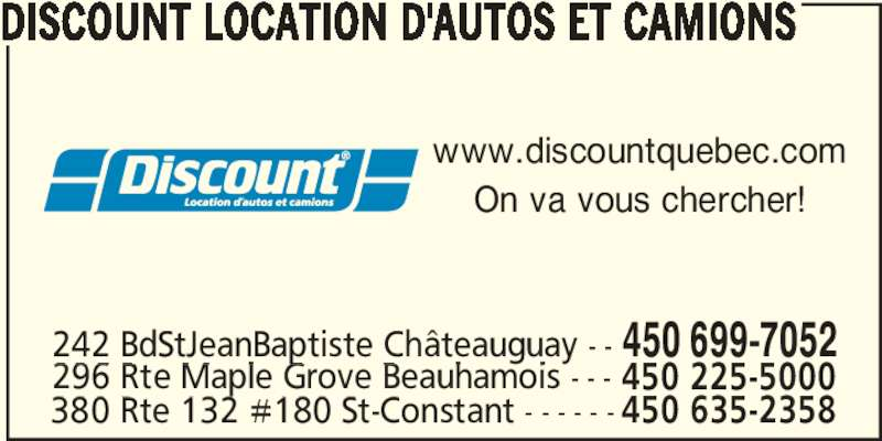 Discount Car Rental Chateauguay