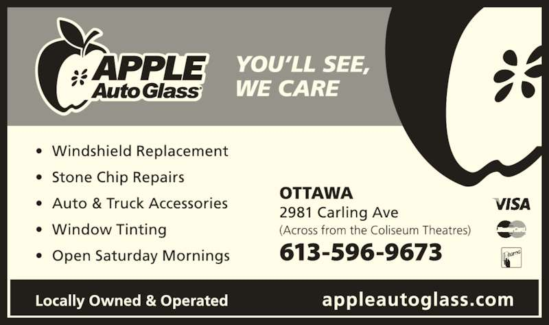 Apple Auto Glass (613-596-9673) - Display Ad -