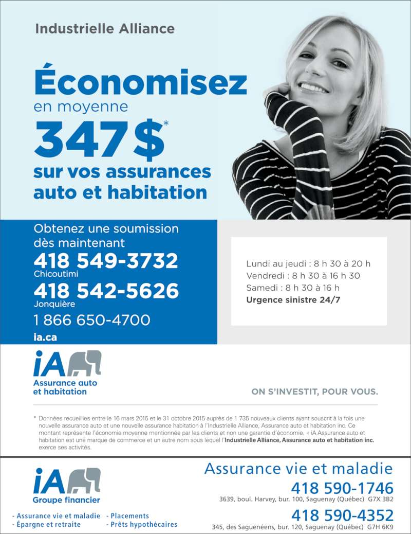 Industrielle alliance horaire d 39 ouverture 345 rue des for Assurance maison industrielle alliance