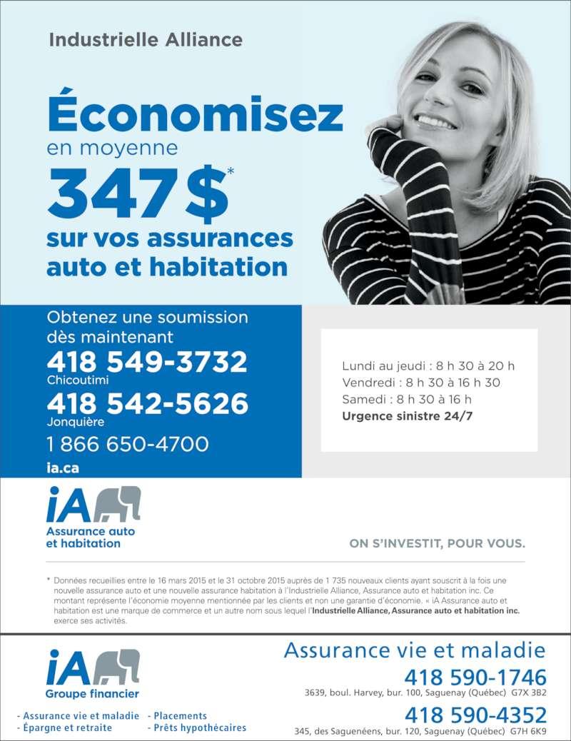 Industrielle alliance horaire d 39 ouverture 345 rue des for Assurance maison industrielle alliance