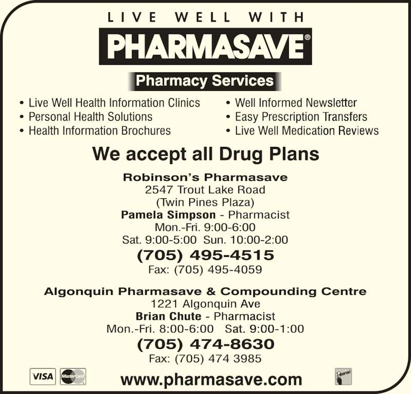 Pharmasave (705-474-8630) - Display Ad -