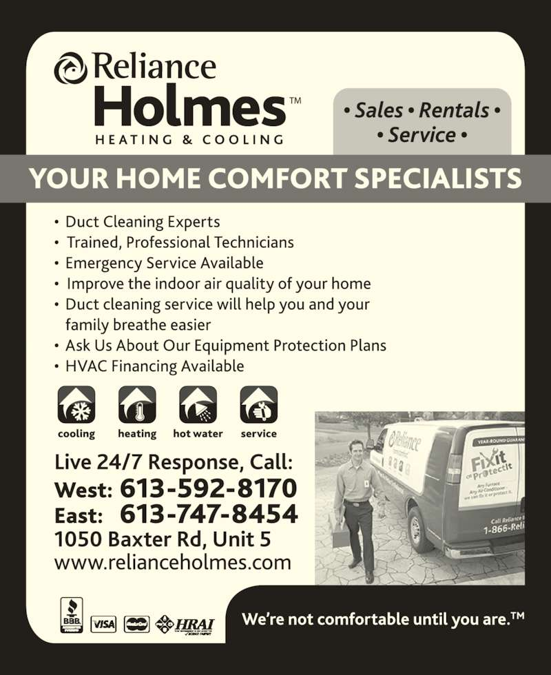 Reliance Home Comfort Canada Phone Number