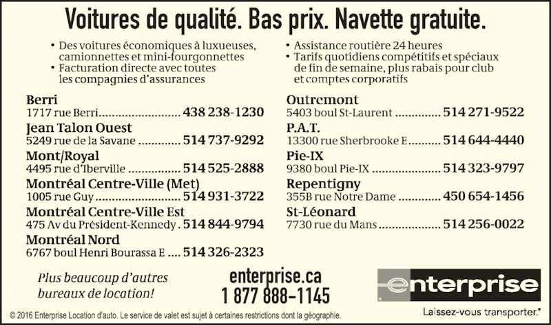 Enterprise Car Rental Montreal Decarie