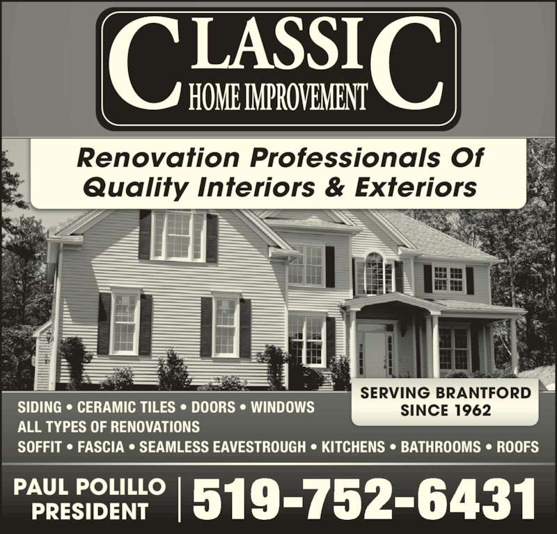 Classic Home Improvement Inc 169 Powerline Rd Brantford On