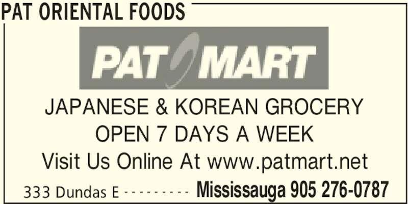 PAT Mart (905-276-0787) - Annonce illustrée======= -