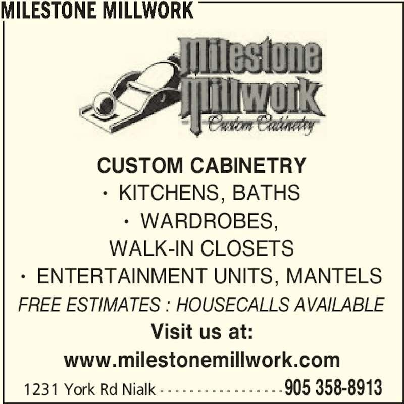 milestone millwork 1231 york rd niagara on the lake on