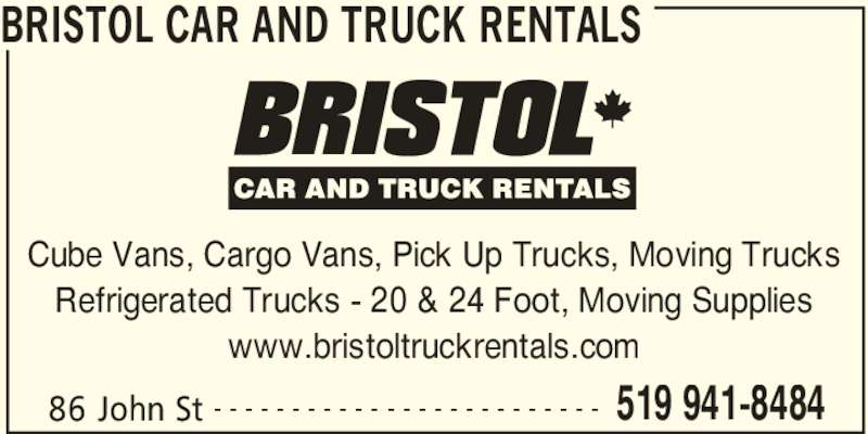 bristol car and truck rentals opening hours 86 john st. Black Bedroom Furniture Sets. Home Design Ideas