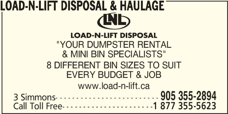 Ads Load-N-Lift Disposal & Haulage