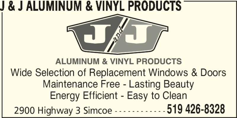 J Amp J Aluminum Amp Vinyl Products Opening Hours 2900
