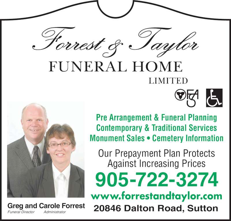 Forrest Taylor Funeral Home Limited Sutton West On