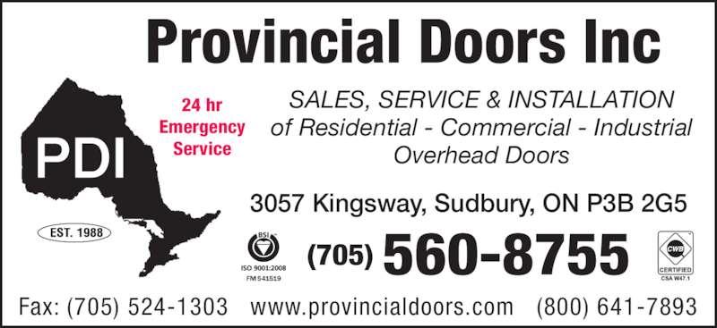 Provincial Doors Inc Opening Hours 3057 Kingsway