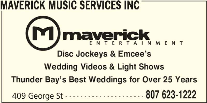 Maverick Music Services Inc Thunder Bay On 409 George St Canpages