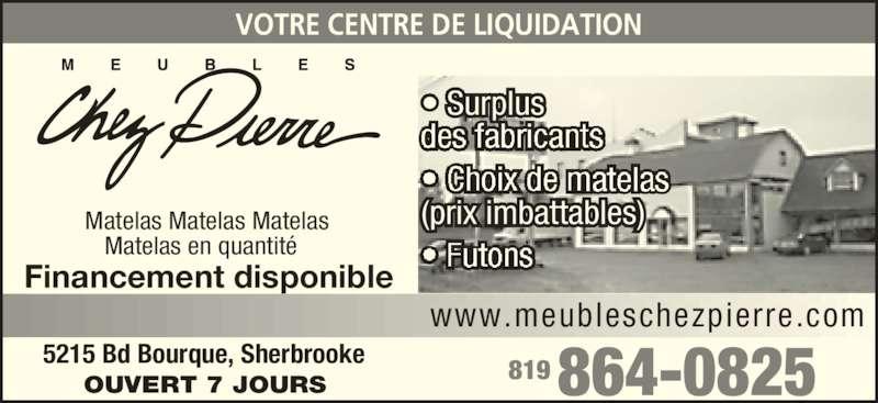 Meubles chez pierre sherbrooke qc 5215 boul bourque for Meuble chez brick sherbrooke