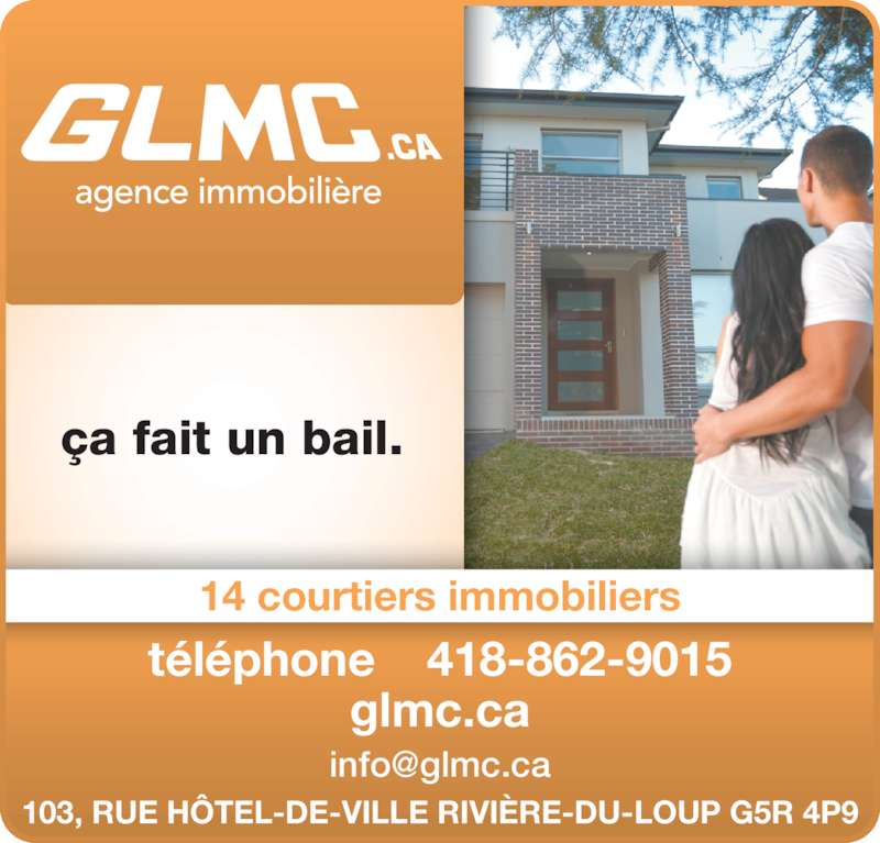 Immeubles G L M C Inc (418-862-9015) - Annonce illustrée======= -