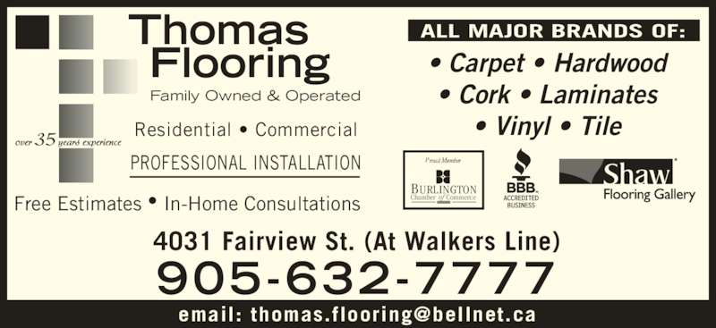 Thomas Flooring Opening Hours 4031 Fairview St