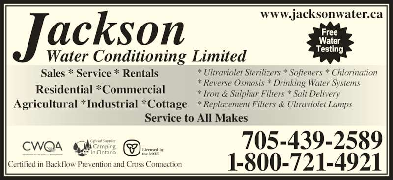 Jackson Water Systems Woodville Jackson Water Conditioning