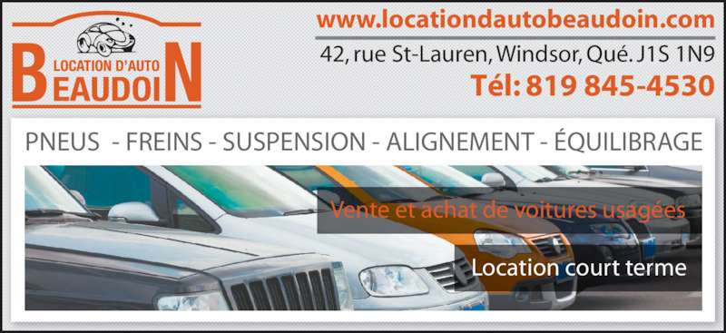 location d 39 auto beaudoin inc 42 rue saint laurent windsor qc. Black Bedroom Furniture Sets. Home Design Ideas