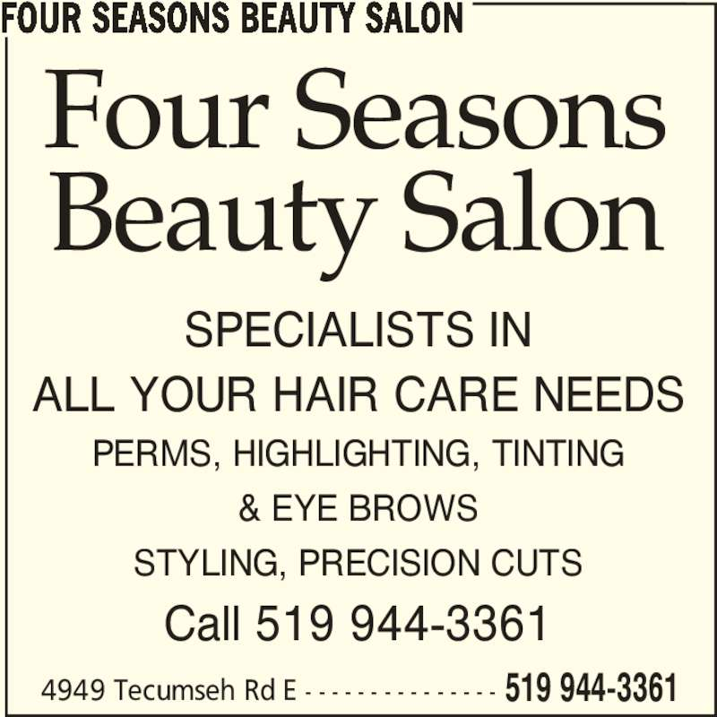 four seasons beauty salon windsor on 4949 tecumseh rd