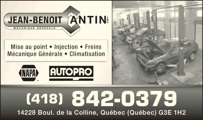 Garage jean benoit cantin inc qu bec qc 14228 boul for Garage ad st laurent de la plaine