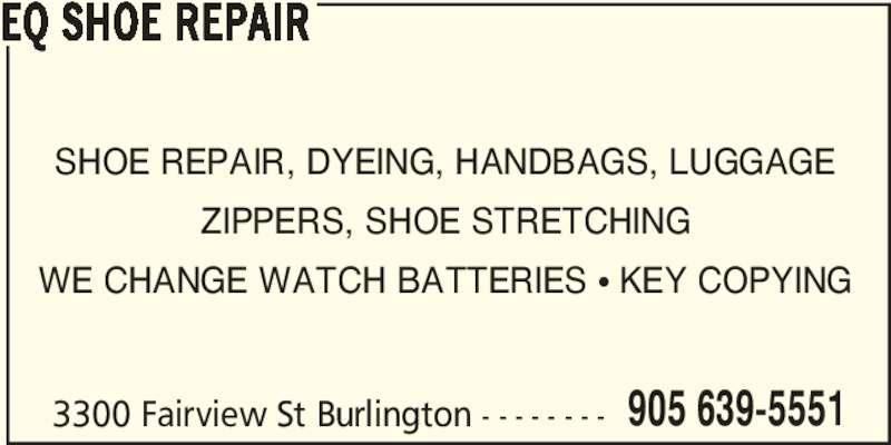 Shoe Zipper Repair Toronto